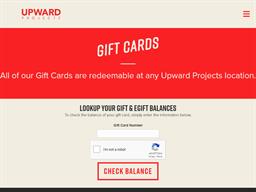 Upward Projects gift card balance check