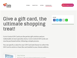 Corio Central gift card purchase