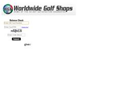 Worldwide Golf Shops gift card balance check