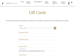 Zip Fit Denim gift card purchase