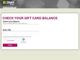 Zumba Fitness gift card balance check