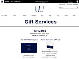 Baby Gap gift card balance check