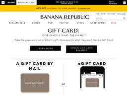 Banana Republic gift card purchase
