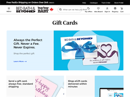 Bed Bath & Beyond gift card balance check