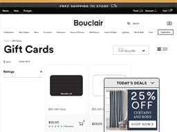 Bouclair Home gift card purchase