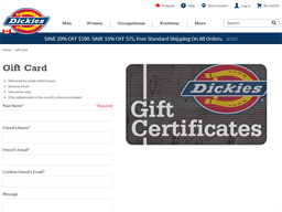Dickies gift card purchase