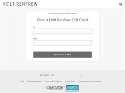 Holt Renfrew gift card purchase