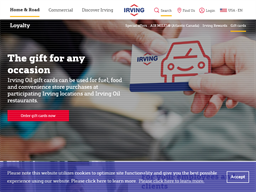 Irving Oil gift card purchase
