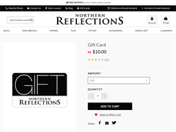 Northern Reflections gift card purchase