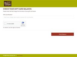 Olive Garden gift card balance check