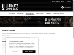 Original Joe's (Ultimate) gift card balance check