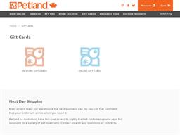 Petland gift card purchase
