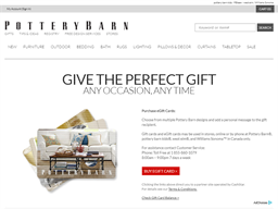 Pottery Barn / Williams Sonoma gift card balance check
