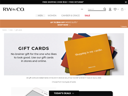 RW & Co gift card purchase