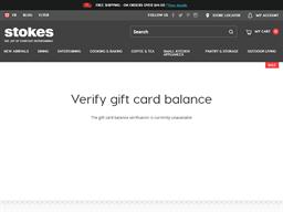 Stokes gift card balance check