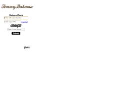 Tommy Bahama gift card balance check
