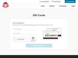 Wendy's gift card balance check