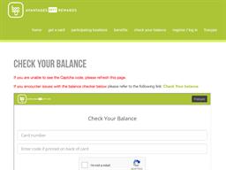 MTY Reward gift card balance check