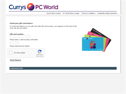 Dixons Carphone gift card balance check