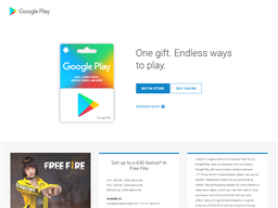 Google Play gift card purchase