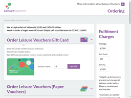 Leisure Vouchers gift card purchase