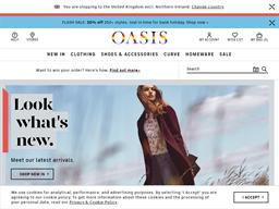 Oasis Clothing shopping