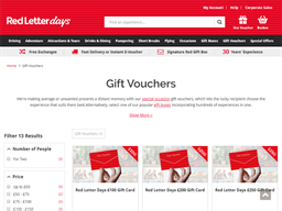 Red Letter Days gift card purchase