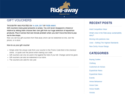 Rideaway Store gift card purchase