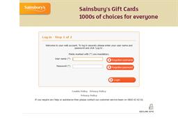 Sainsbury's gift card balance check