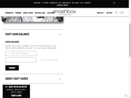Smashbox gift card balance check