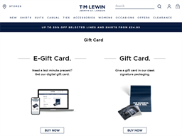 T.M. Lewin gift card purchase
