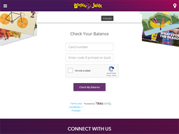 Booster Juice gift card balance check