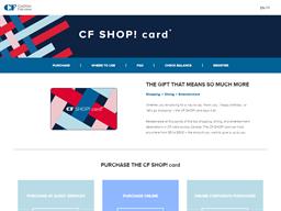 Cadillac Fairview CF SHOP! Card gift card purchase