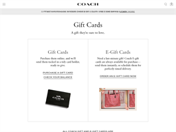 Coach gift card purchase