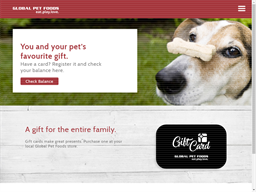 Global Pet Foods gift card purchase