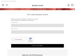 Marciano gift card balance check