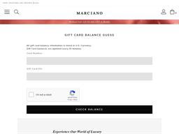 Marciano gift card purchase