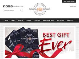 Alcool NB Liquor gift card purchase