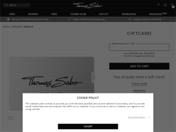 Thomas Sabo gift card purchase
