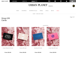 Urban Planet gift card purchase