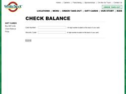 White Spot gift card balance check