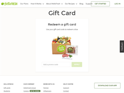 Hello Fresh gift card balance check