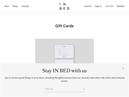 IN BED Store gift card purchase