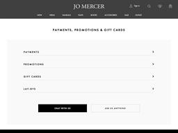Jo Mercer gift card purchase
