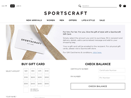 Sportscraft gift card purchase