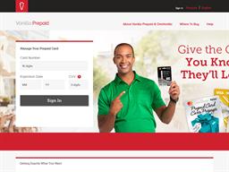 Vanilla Mastercard Prepaid Card gift card balance check