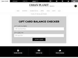 Urban Kids gift card balance check