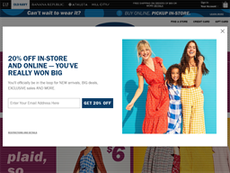 Old Navy shopping