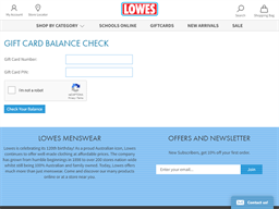 Lowes gift card balance check