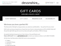 Devonshire Mall gift card purchase
